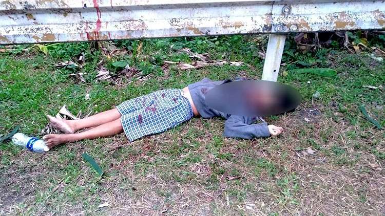 SAMAR. Police in Pinabacdao, Samar ask the public to help identify a bullet-riddled body found on February 6, 2019. (Photo courtesy of Pinabacdao Municipal Police Station)