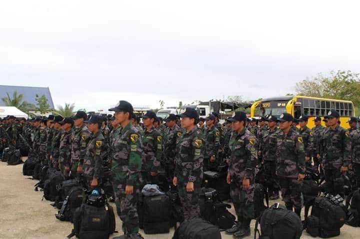 CEBU. PRO-Central Visayas deployed a troop to be part of the augmentation force in Lanao del Norte for the Bangsamoro Organic Law plebiscite. (Contributed)