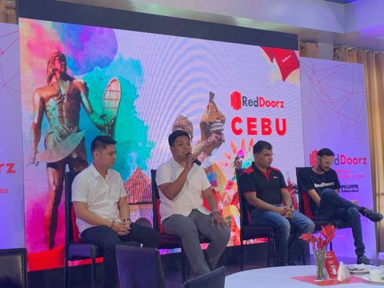 The proponents of RedDoorz, a Singapore-based technology platform for budget hotel bookings introduce their technology in Cebu. (Herty Lopez)
