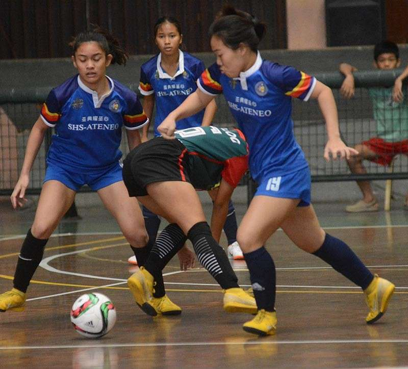 FINALS BERTH. Defending champion Sacred Heart School-Ateneo de Cebu needs at least a draw against USC to set up a finals match in girls' futsal. (SunStar File Photo)