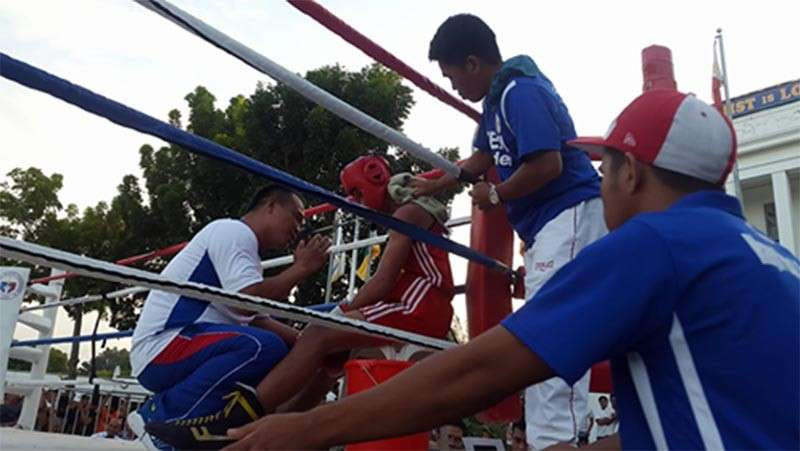 DAVAO. Coach Elmer Pamesa and the Cagayan de Oro boxing contingent rules anew the Batang Pinoy Meet in Tagum City. (Lynde Salgados)