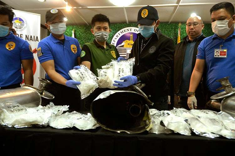 MANILA. Around 13 kilos of shabu were intercepted at the Ninoy Aquino International Airport on January 26, said the Bureau of Customs on Tuesday, February 12, 2019. (Al Padilla/SunStar Philippines)