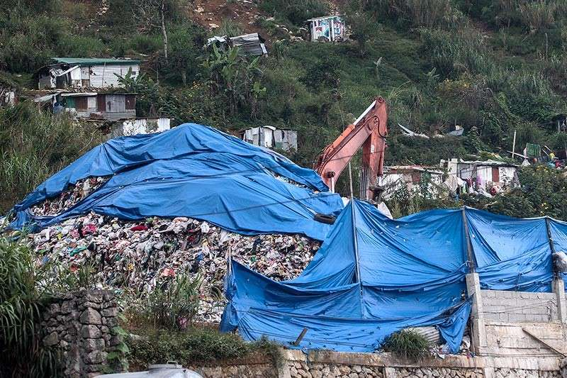 BENGUET. Tuba, Benguet officials called out the city government of Baguio anew as foul smell emanates from the waste transfer facility along Marcos Highway affecting residents and students. (Photo by Jean Nicole Cortes)