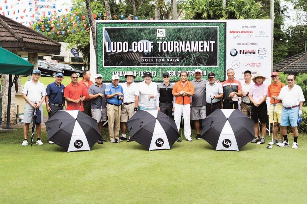GOLF FOR A CAUSE. Golfers played for the victims of last year's Naga City landslide in LuDo Golf Tournament: Golf for Naga. The tournament raised a total of P5 million. (Contributed photo)