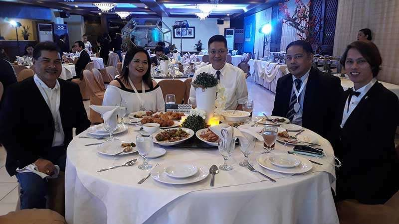 CAGAYAN DE ORO. JCI Kagayhaan Gold's induction and turn over ceremonies, held on Saturday, February 9, was attended by former presidents of the organization. (Jo Ann Sablad)