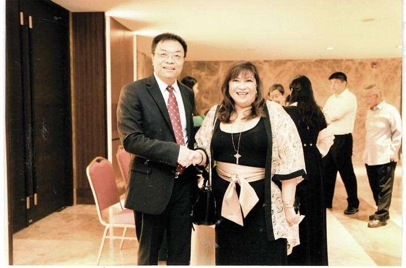 CONSUL GENERAL JIA LI with Honorary Consul to Russia Armi Garcia.