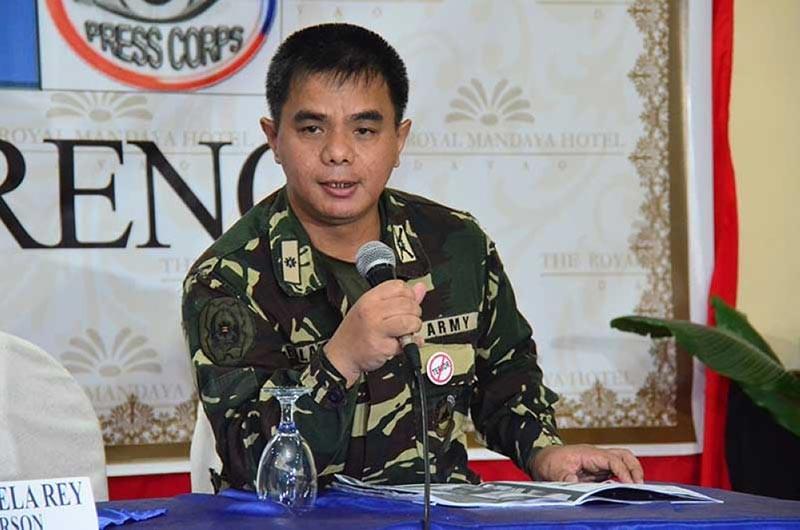 DAVAO. Eastern Mindanao Command (Eastmincom) spokesperson Lieutenant Colonel Ezra Balagtey. (Macky Lim)