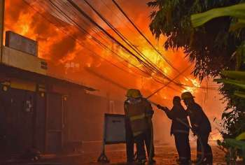 CEBU. Mga bombero sa Sugbo ang mipaubos sa advanced Chemical, Biological, Radiological and Nuclear Emergency (CBRNE) sa Estados Unidos sulod sa dul-an duha ka semana. (SunStar file)