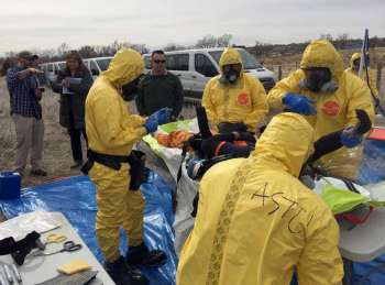 SKILLS UPGRADE: Four firefighters from Cebu are in the US to undergo training in advanced Chemical, Biological, Radiological and Nuclear Emergency defense. (Contributed Photo)