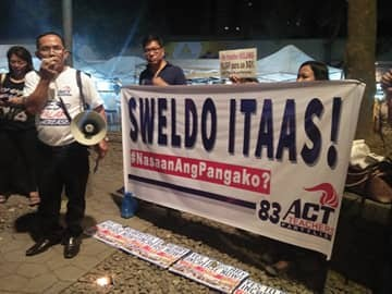 Alliance of Concerned Teachers (ACT) Davao Chapter. (Photo by Randie Comilang)