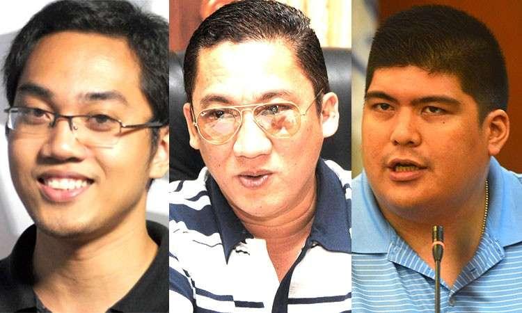 (From left) Reynaldo Santos Jr., Cebu Representative Jonas Cortes, and Mandaue City Mayor Luigi Quisumbing. (Photos from Rappler and SunStar File)