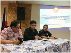 PAMPANGA. DILG-Central Luzon Assistant Regional Director Jay Timbreza joins Multi-Sectoral Advisory Committee (MSAC) members during the signing of a memorandum of agreement (MOA) on February 15, 2019. (Contributed Photo)