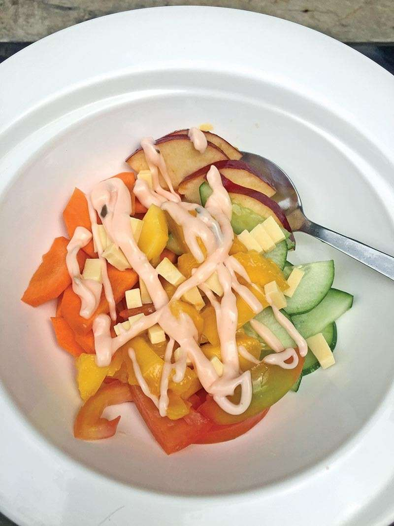 Added some slices of cheddar cheese and salad mayo. (Contributed photo)