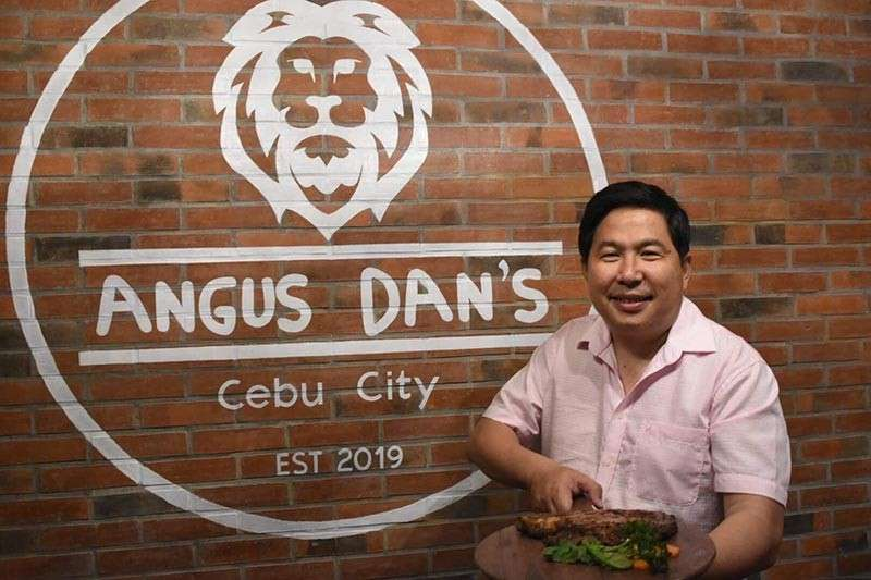 """SPECIALTY OF THE HOUSE. Following the success of his Choobi-Choobi and Kogi-Q restaurants, Constantine """"Stan' Tanchan is trying his luck with Angus Dan's, inspired by New York City steakhouses. (SunStar photo / Allan Cuizon)"""