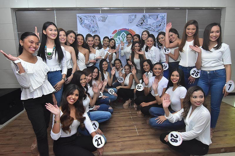 DAVAO. The 29 official candidates of Mutya ng Davao 2019 are presented to the press  Monday, February 18, 2019, at Star Hotel in Davao City. (Photo by Macky Lim)