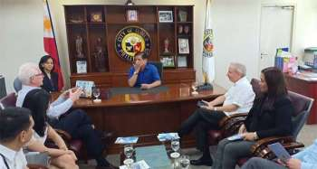 ILOILO. Officials of the American Chamber of Commerce (AmCham) of the Philippines Inc. in a courtesy call to Iloilo City Mayor Jose Espinosa on Monday, February 18, 2019. (Photo from Iloilo City Government)