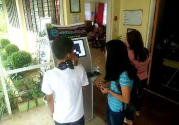 SOUTHERN LEYTE. Students at the Hingatungan National High School in Silago, Southern Leyte cast their votes using H-ACES (Hingatungan-Automated Counting Election System), a breakthrough computer system set up by school faculty through Ronald Cuevas to replicate and educate the students on national and local automated elections and to promote a fair and honest election through digitization. (Contributed photo) onerror=