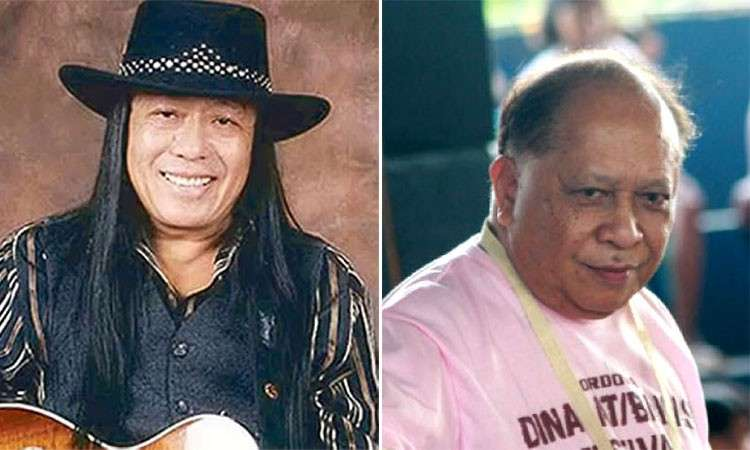 Singer Freddie Aguilar (left) and Presidential Legislative Liaison Adelino Sitoy. (SunStar File)