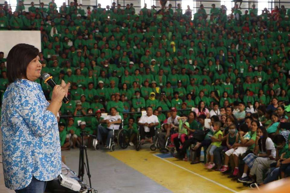 PAMPANGA. Governor Lilia Pineda addresses thousands of persons with disability (PWDs) and scavengers during the multisectoral assembly held at the Bren Z. Guiao Convention Center in the City of San Fernando on Monday, February 18, 2019. (Photo by Chris Navarro)