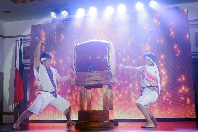 DAVAO. To open the cultural show - Taiko, the ancient Japanese form of percussion using large drums. (Jinggoy I. Salvador)