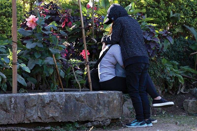 Prohibited public display of affection BAGUIO. Public display of affection will no longer be allowed at the children's park in Burnham once a proposed ordinance is approved. (Photo by Jean Nicole Cortes)