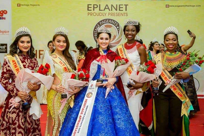 SINGAPORE. Negrense Mary Kimberly Cagape, representing the Philippines, wins first runner-up in the Miss Heritage International 2019 pageant held in Singapore on February 16. (Contributed Photo)