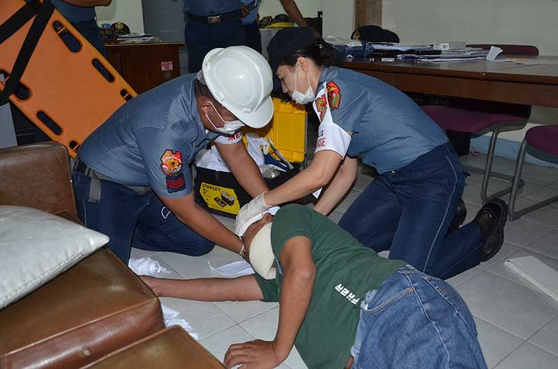 PAMPANGA. Earthquake drill is an annual exercise designed for the awareness, preparedness and readiness of PRO-Central Luzon PNP personnel and employees during an actual earthquake. (RPIO PRO-Central Luzon)