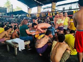 DAVAO. A greyhound operation was conducted by the Joint Task Force on Saturday inside the Maa City Jail which resulted to a fatal confrontation with the inmates. (Photo by DCPO)