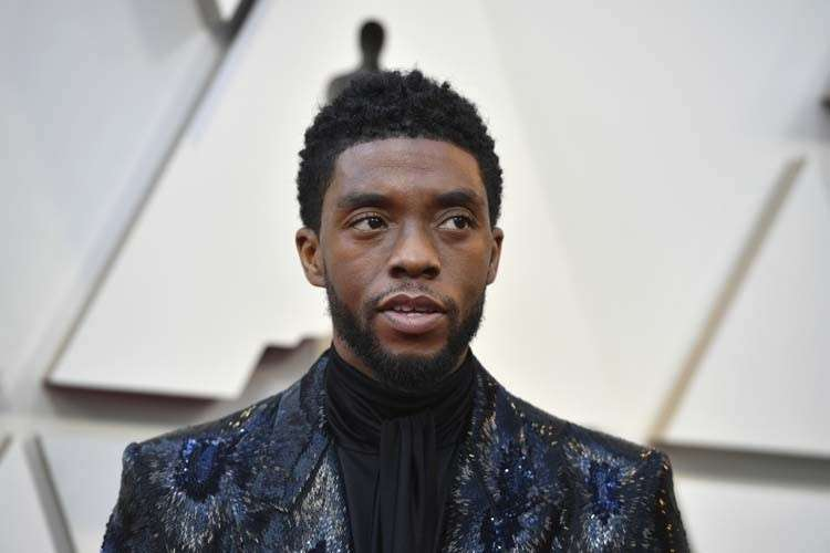 USA. Chadwick Boseman arrives at the Oscars on Sunday, Feb. 24, 2019, at the Dolby Theatre in Los Angeles. (AP)