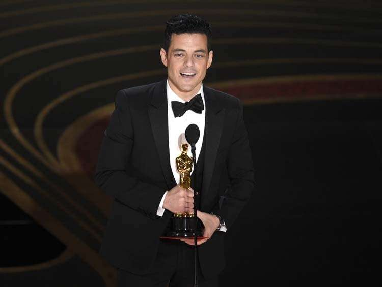 USA. Rami Malek accepts the award for best performance by an actor in a leading role for