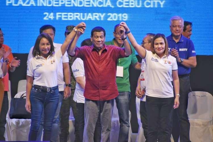 CEBU. President Rodrigo Duterte endorses gubernatorial candidate Rep. Gwendolyn