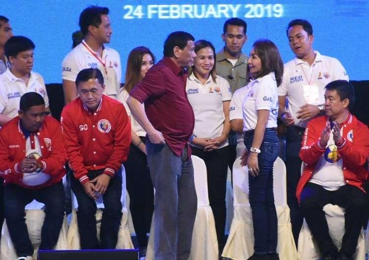 CEBU. President Rodrigo Duterte  ni-endorsar sa mga kandidato ng iyang suportahan karong umaabot nga eleksyon. (Allan Cuizon)