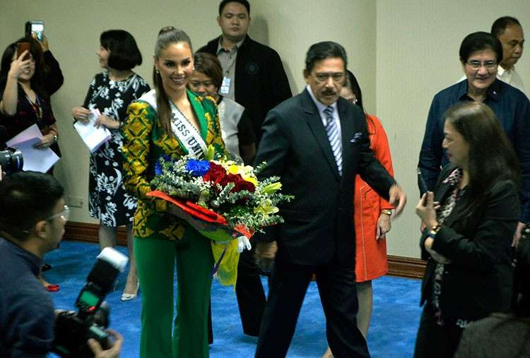 MANILA. Miss Universe 2018 Catriona Gray pays a courtesy call on Philippine senators on February 26, 2019. (Al Padilla/SunStar Philippines)