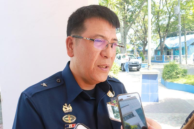 DAVAO. Coast Guard District Southeastern Mindanao commander Commodore Roy Echeverria says there is a joint effort to patrol the coast of Davao for possible cocaine bricks. (Photo by Juliet Revita)