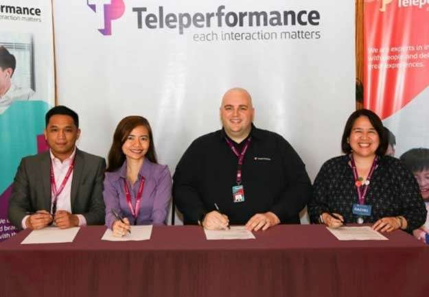 BACOLOD. Teleperformance Philippines' Human Capital Resource Management senior vice president Jeffrey Johnson (second from right), vice president for Human Resources Rachel Cacabelos, senior director for Communications and Marketing Marilyn Romero-Ventenilla, and Diversity and Inclusion Manager Philip Del Rosario lead the organization-wide campaign for equal opportunities for all in the workplace. (Contributed photo)