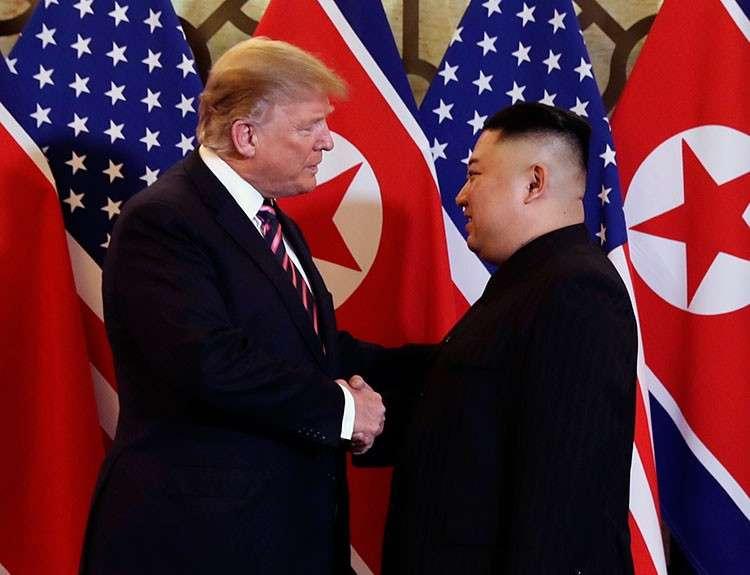 VIETNAM. President Donald Trump meets North Korean leader Kim Jong Un, Wednesday, February 27, 2019, in Hanoi. (AP)