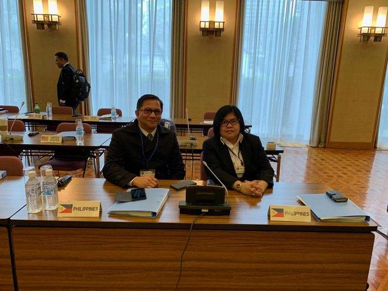 JAPAN. PDEA Director General Aaron Aquino and Acting Deputy Director General for Administration Irish Calaguas attend the Asia Pacific Drug Enforcement Conference in Tokyo, Japan. PDEA received praises from participating countries for presenting its demand and harm reduction programs composed of anti-drug advocacy efforts, Balay Silangan Reformation and Sagip Batang Solvent. (Contributed Photo)