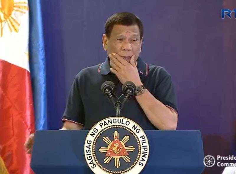 MANILA. President Rodrigo Duterte leads the inauguration of the NLEX Harbor Link Segment 10 project on February 28, 2019. (Photo grabbed from RTVM video)