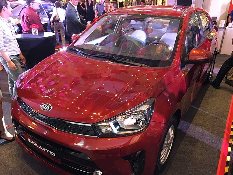 Re-launch event. The all-new Kia Soluto on display during its re-launch at The Gallery in Ayala Center Cebu last Feb. 15. (SunStar Photo/Christian B. Quilo)