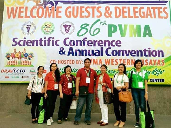 BACOLOD. Some of the veterinarians representing the Provincial Veterinary Office of Negros Occidental during the 86th Scientific Conference and Annual Convention held at Iloilo Convention Center in Iloilo City recently. (Contributed photo)