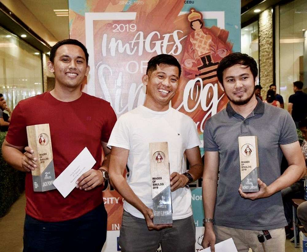 TOP 3. Jack Ponpon (second place), Anthony Hejie Suralta (first place) and Nonoy Landar (third place).