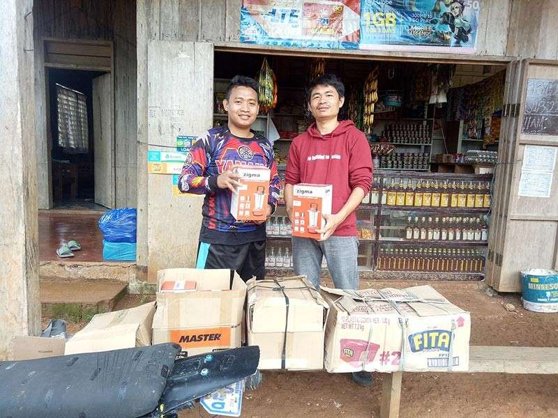 Solar lamps and school supplies from Ethan's World. (Contributed photo)