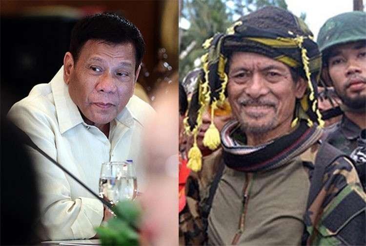 MANILA. President Rodrigo Duterte and MNLF leader Nur Misuari. (SunStar File)