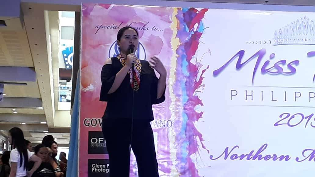 CAGAYAN DE ORO. Department of Tourism (DOT)-Northern Mindanao Director Marie Elaine Unchuan gives an inspiring message to the candidates of Miss Teen Philippines' regional finalists. (Jo Ann Sablad)