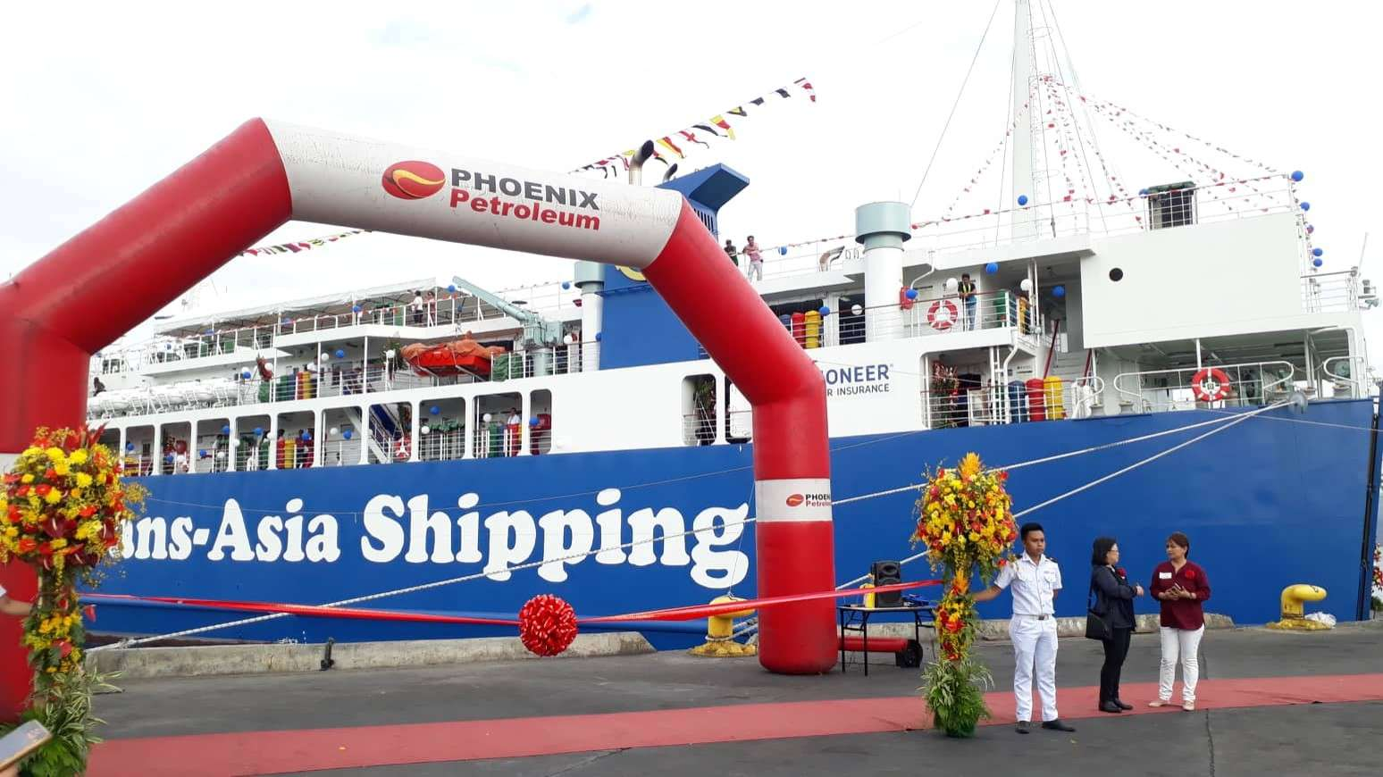 CAGAYAN DE ORO. M/V Trans-Asia 19 awaits ribbon-cutting ceremony during its launch on March 2, at the Macabalan Port, Cagayan de Oro City. (JoAnn Sablad)