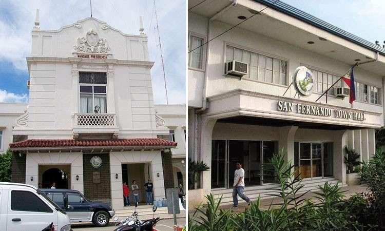 Mandaue City Hall and San Fernando town hall. (SunStar File)