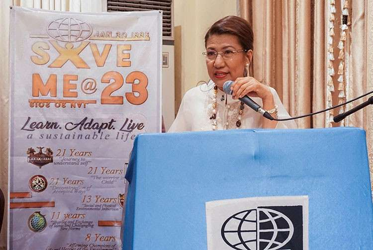 MANILA. Dr. Ma. Josefina P. Abilay receives the Ten Outstanding Movers of the Philippines award. (Contributed photo)