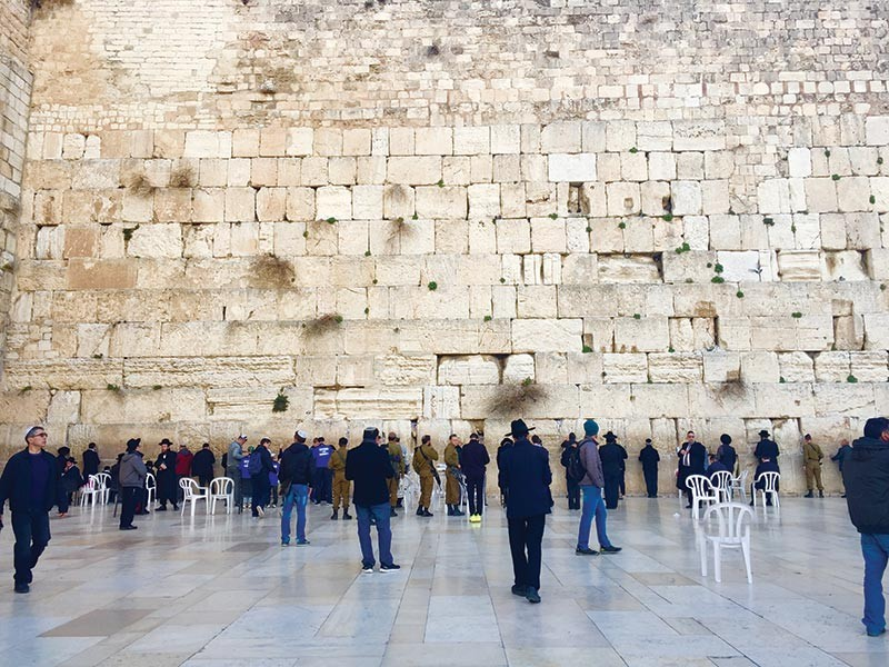 TIME FOR REFLECTION. This ancient limestone wall in Jerusalem is referred to as the Western Wall, considered a holy site for many. Cebu Alliance of Tour Operation Specialists president Alice Queblatin notes many Cebuanos going on pilgrimage tours to the Holy Land. (SunStar file)