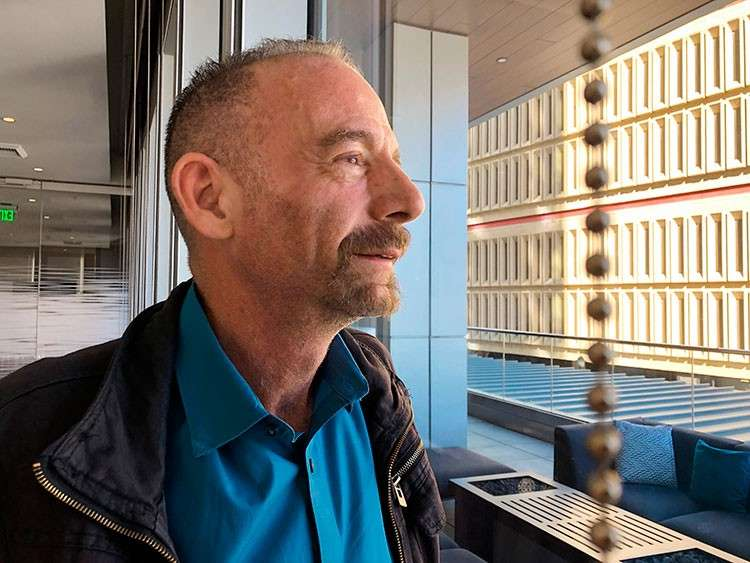 USA. Timothy Ray Brown poses for a photograph, Monday, March 4, 2019, in Seattle. Brown, also known as the