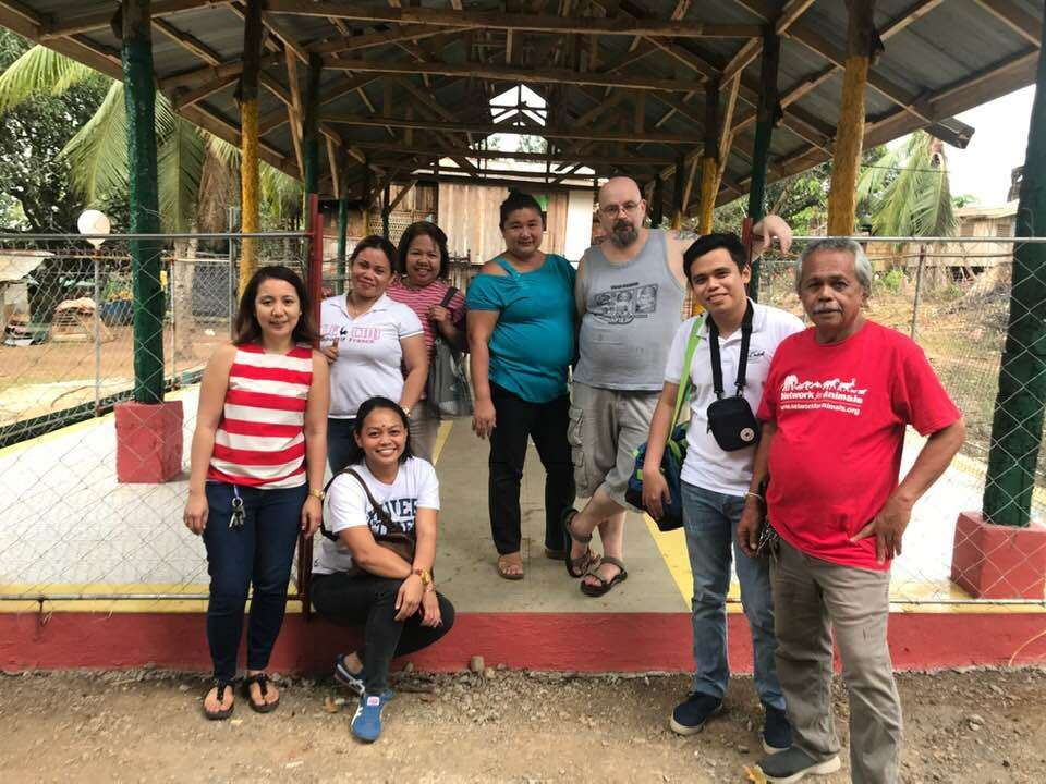 CAGAYAN DE ORO. Roiselle together with her husband and the people working for the Animal Rescue de Kagay-an. The place they are in is the newly built dog shelter located in Barangay Bayanga, Cagayan de Oro City. (Photo from Roiselle Acaylar)